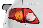 Tail light close up detail view of a 2009 Toyota Corolla 4 Door
