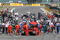 18th July 2021; Silverstone Circuit, Silverstone, Northamptonshire, England; Formula One British Grand Prix, Race Day; The cars start to arrive on the grid