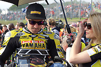 Josh Brookes of Anvil Hire Tag Racing on the grid for race two of the MCE British Superbikes in Association with Pirelli round 12 2017 - BRANDS HATCH (GP) at Brands Hatch, Longfield, England on 15 October 2017. Photo by Alan  Stanford / PRiME Media Images.