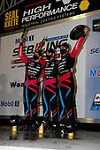 #86 Meyer Shank Racing w/Curb-Agajanian Acura NSX GT3, GTD: Mario Farnbacher, Matt McMurry, Shinya Michimi celebrate on the podium