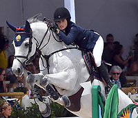 MIAMI BEACH, FL - APRIL 15: Jessica Rae Springsteen at the Longines Global Champions Tour stop in Miami Beach - Global Champions League Final - Class 13: Miami Beach 2017 CSI5* 1.55/1.60m. The winner was Kent Farrington (USA), second place was Martin Fuchs (CH)  and third place was Lauren Hough (USA). Also riding but did not make the finals was Georgina Bloomberg, Jessica Rae Springsteen and Jennifer Gates on April 15, 2017 in Miami Beach, Florida.<br /> <br /> People:  Jessica Rae Springsteen