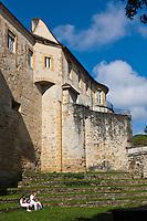 Europe/France/Aquitaine/64/Pyrénées-Atlantiques/Pays-Basque/Bayonne: Le Château-Vieux du XIe siècle, construit par les vicomtes du Labourd lors des Fêtes de Bayonne