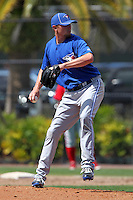 Toronto Blue Jays Sean Shoffit #50 during a minor league spring training game against the Philadelphia Phillies at the Carpenter Complex on March 16, 2012 in Clearwater, Florida.  (Mike Janes/Four Seam Images)