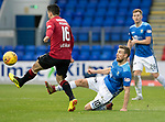 St Johnstone v St Mirren…27.10.18…   McDiarmid Park    SPFL<br />David Wotherspoon tackles Ian McShane<br />Picture by Graeme Hart. <br />Copyright Perthshire Picture Agency<br />Tel: 01738 623350  Mobile: 07990 594431