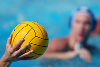 A waterpolo ball and player.