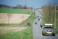 the first escape group of the day was finally formed after more than 70 kilometers into the race<br /> <br /> 100th Ronde van Vlaanderen 2016