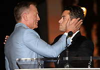LOS ANGELES, CA. October 06, 2021: Daniel Craig & Rami Malek on Hollywood Boulevard where he was honored with a star on the Hollywood Walk of Fame. <br /> Picture: Paul Smith/Featureflash