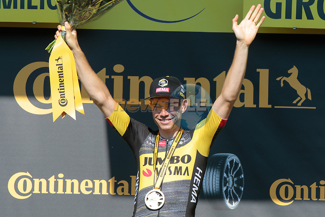 Wout Van Aert (BEL) Jumbo-Visma wins Stage 20 of the 2021 Tour de France, an individual time trial running 30.8km from Libourne to Saint-Emilion, France. 17th July 2021.  <br /> Picture: Colin Flockton | Cyclefile<br /> <br /> All photos usage must carry mandatory copyright credit (© Cyclefile | Colin Flockton)