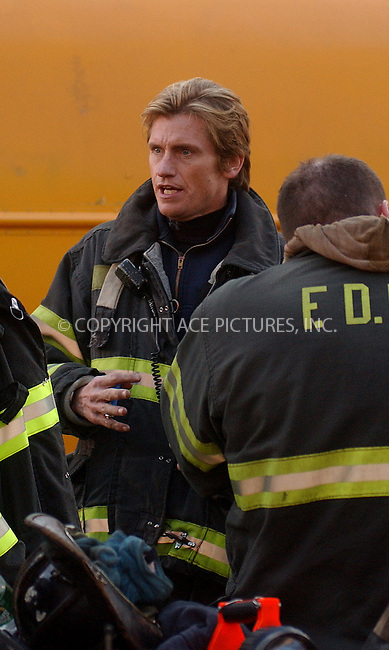 WWW.ACEPIXS.COM . . . . . ....NEW YORK, APRIL 6, 2006....Denis Leary filming on the set of 'Rescue Me'.....Please byline: KRISTIN CALLAHAN - ACEPIXS.COM.. . . . . . ..Ace Pictures, Inc:  ..(212) 243-8787 or (646) 679 0430..e-mail: info@acepixs.com..web: http://www.acepixs.com