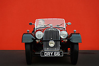 BNPS.co.uk (01202 558833)<br /> Pic: ZacharyCulpin/BNPS<br /> <br /> Dave Sapp proudly shows of his 1939 Morgan 4/4 at Haynes International Motor Museum in Sparkford, Somerset. <br /> <br /> Mr Sapp was taking part in a Morgan car rally as part of the Celebration of Morgan exhibition which runs until Janaury 10th. The rally attracted Morgan enthusiasts throughout the South.