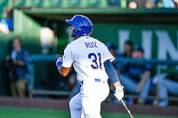 Keibert Ruiz (31) of the Ogden Raptors at bat against the Missoula Osprey in Pioneer League action at Lindquist Field on July 13, 2016 in Ogden, Utah. Ogden defeated Missoula 8-2. (Stephen Smith/Four Seam Images)