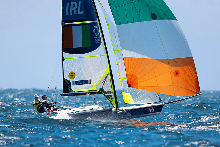 Robert Dickson and Sean Waddilove are lying 11th after four races sailed