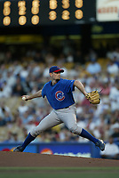 Matt Clement of the Chicago Cubs during a 2003 season MLB game at Dodger Stadium in Los Angeles, California. (Larry Goren/Four Seam Images)