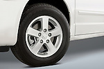 Tire and wheel close up deatil of a 2008 Dodge Caravan