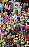Fans enjoying the action and atmosphere during the Cathay Pacific / HSBC Hong Kong Sevens 2013 on March 2013 at Hong Kong Stadium, Hong Kong, China. Photo by Victor Fraile / The Power of Sport Images