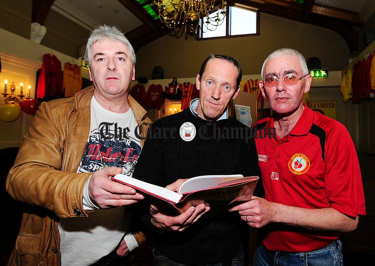 Ollie byrnes, Noel Purthill and Kevin Keenan.Pic Arthur Ellis.