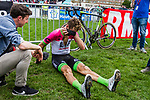 Taylor PHINNEY from the United States of EF Education First - Drapac finishing 8th after the 2018 Paris-Roubaix race, Velodrome Roubaix, France, 8 April 2018, Photo by Thomas van Bracht / PelotonPhotos.com | All photos usage must carry mandatory copyright credit (Peloton Photos | Thomas van Bracht)