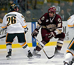"""19 January 2007: Boston College forward Brian Boyle from Hingham, MA, in action during a Hockey East matchup against the University of Vermont at Gutterson Fieldhouse in Burlington, Vermont. The UVM Catamounts defeated the BC Eagles 3-2 before a record setting 50th consecutive sellout at """"the Gut""""...Mandatory Photo Credit: Ed Wolfstein Photo."""