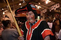 Dancing followed a historic totem raising ceremony in Klawock.  Seven poles were added to the Tlinget park.  The people carried one pole to the park from where it was carved across town. Tlingit, Haida and Shimshane communities celebrated together.