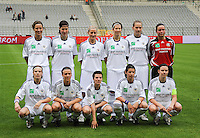 15 Mei 2010 Bekerfinale vrouwen : Sinaai Girls - RSC Anderlecht  : D'Haeseleir, Kesteloot , Van Oudheusden , Borms , De Rammelaere , Wouters , Callebaut , Puttemans  , Browaeys , Segers , De Jaeger.foto DAVID CATRY / Vrouwenteam.be