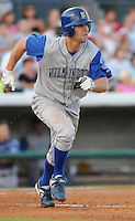 July 7, 2008: Outfielder Cody Strait (29) of the Wilmington Blue Rocks, Class A affiliate of the Kansas City Royals, in a game against the Myrtle Beach Pelicans at BB&T Coastal Field in Myrtle Beach, S.C. Photo by:  Tom Priddy/Four Seam Image