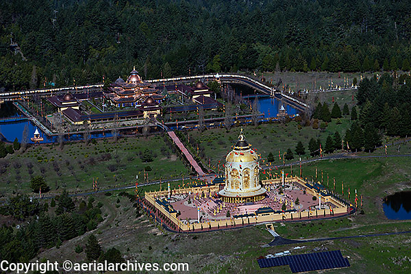 aerial photograph Odiyan Buddist Retreat Center Sonoma County, California