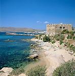 Greece, Central Greece, Island Evia, Karystos: Castle & Coastline | Griechenland, Mittelgriechenland, Insel Euboea - heute Évia genannt, Karystos: Stadt an der Suedkuste der Insel - Burg, Hafen