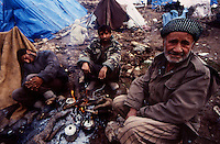 Isikveren - Kurdistan - Turckey/Iraq Border - April 1991.Consequences of Gulf War..Isikveren refugee camp on the Turkish side of the Iraqi border..Thousands of ethnic kurds fled from their homes becouse of fightings between Saddam Hussein and NATO troops are living in terrible conditions due to the cold and the lack of humanitarian aid. .Photo Livio Senigalliesi