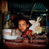 Sintayhu Shewatatik, 9, wants to be a trader when she grows up.