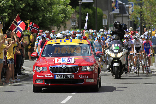 at the start of  Stage 18 of the 2010 Tour de France from Salies-de-Bearn to Bordeaux, 23rd July 2010 (Photo by Eoin Clarke/NEWSFILE)