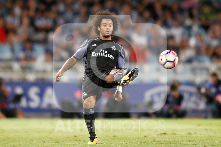 Real Madrid's Marcelo Vieira during La Liga match. August 21,2016. (ALTERPHOTOS/Acero)