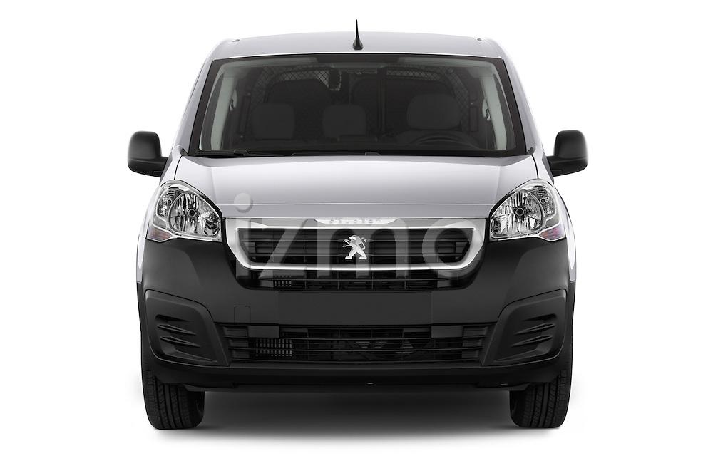 Car photography straight front view of a 2015 Peugeot Partner - 4 Door Car Van Front View
