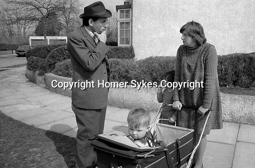 """""""Thorpe works for us."""" Jeremy Thorpe on the election campaign trail mid Devon constituency 1979 with his wife Marion..."""
