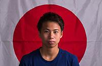 Kansas City, KS - July 24, 2018: Japan Flag Portraits