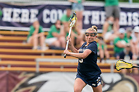 NEWTON, MA - MAY 22: Kasey Choma #3 of Notre Dame takes a shot during NCAA Division I Women's Lacrosse Tournament quarterfinal round game between Notre Dame and Boston College at Newton Campus Lacrosse Field on May 22, 2021 in Newton, Massachusetts.