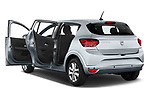 Rear three quarter door view of a 2021 Dacia Sandero Comfort 5 Door Hatchback