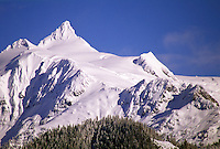 Mount Shuksan covered in snow, North Cascades National Park, Washington