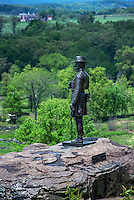 General Kemble Warren at Little Round Top, Gettysburg National Military Park, Pennsylvania, USA