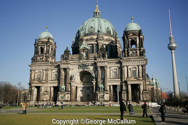 Berlin Cathedral in Berlin Mitte, Alexanderplatz TV tower