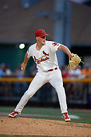 Johnson City Cardinals relief pitcher Jacob Sylvester (30) delivers a pitch during a game against the Danville Braves on July 28, 2018 at TVA Credit Union Ballpark in Johnson City, Tennessee.  Danville defeated Johnson City 7-4.  (Mike Janes/Four Seam Images)