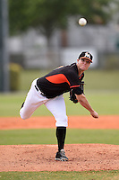 Miami Marlins pitcher Scott Lyman (17) during a minor league spring training game against the New York Mets on March 28, 2014 at the Roger Dean Stadium Complex in Jupiter, Florida.  (Mike Janes/Four Seam Images)
