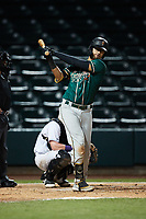 Blake Sabol (35) of the Greensboro Grasshoppers during the game against the Winston-Salem Dash at Truist Stadium on August 11, 2021 in Winston-Salem, North Carolina. (Brian Westerholt/Four Seam Images)