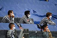16th May 2020, Commerzbank-Arena, Frankfurt, Germany; Bundesliga football, Eintracht Frankfurt versus Borussia Moenchangladbach; Erik Durm Eintracht Frankfurt, Danny da Costa Eintracht Frankfurt, Frederik Roennow Eintracht Frankfurt all wearing masks on the bench