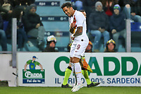 Justin Kluivert of AS Roma celebrates after scoring the goal 1-3 <br /> Cagliari 01/03/2020 Sardegna Arena <br /> Football Serie A 2019/2020 <br /> Cagliari Calcio - AS Roma    <br /> Photo Gino Mancini / Insidefoto
