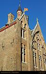 Gruuthuse Palace rear facade, Bruges, Brugge, Belgium