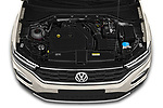 Car Stock 2020 Volkswagen T-Roc Style 5 Door SUV Engine  high angle detail view
