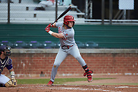David Williams (16) of the St. John's Red Storm at bat against the Western Carolina Catamounts at Childress Field on March 12, 2021 in Cullowhee, North Carolina. (Brian Westerholt/Four Seam Images)