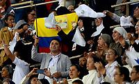 MEDELLÍN - COLOMBIA, 09-09-2017:  El Papa Francisco es ovacionado durante su encuentro religioso en la plaza la Macarena en Medellín. El Papa Francisco realiza la visita apostólica a Colombia entre el 6 y el 11 de septiembre de 2017 llevando su mensaje de paz y reconciliación por 4 ciudades: Bogotá, Villavicencio, Medellín y Cartagena. / Pope Francis is acclaimed during his religious meet at La Macarena in Medellin. Pope Francisco makes the apostolic visit to Colombia between September 6 and 11, 2017, bringing his message of peace and reconciliation to 4 cities: Bogota, Villavicencio, Medellin and Cartagena. Photo: VizzorImage / Leon Monsalve / Cont
