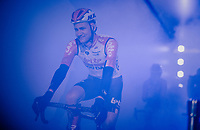 Tim Wellens (BEL/Lotto-Soudal) in the 'show-tunnel' leading into the 'Kuipke' velodrome where the team presentation takes place<br /> <br /> 74th Omloop Het Nieuwsblad 2019 <br /> Gent to Ninove (BEL): 200km<br /> <br /> ©kramon