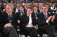 FRANCESCO RUTELLI GIANNI ALEMANNO E MAURO MORETTI .Roma 02/03/2010 XV Congresso Nazionale della UIL..XV National Congress of UIL, italian Trade Union..Photo Samantha Zucchi Insidefoto